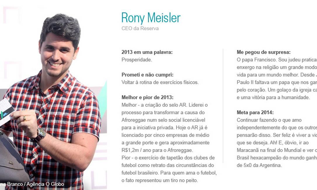 Rony Meisler Ana Branco/ Agência O Globo