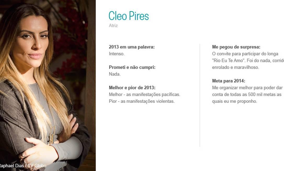 Cleo Pires Raphael Dias/ TV Globo