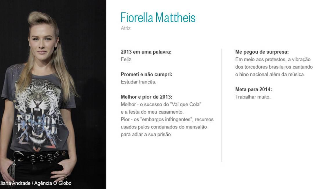 Fiorella Mathheis Eliaria Andrade/ Agência O Globo