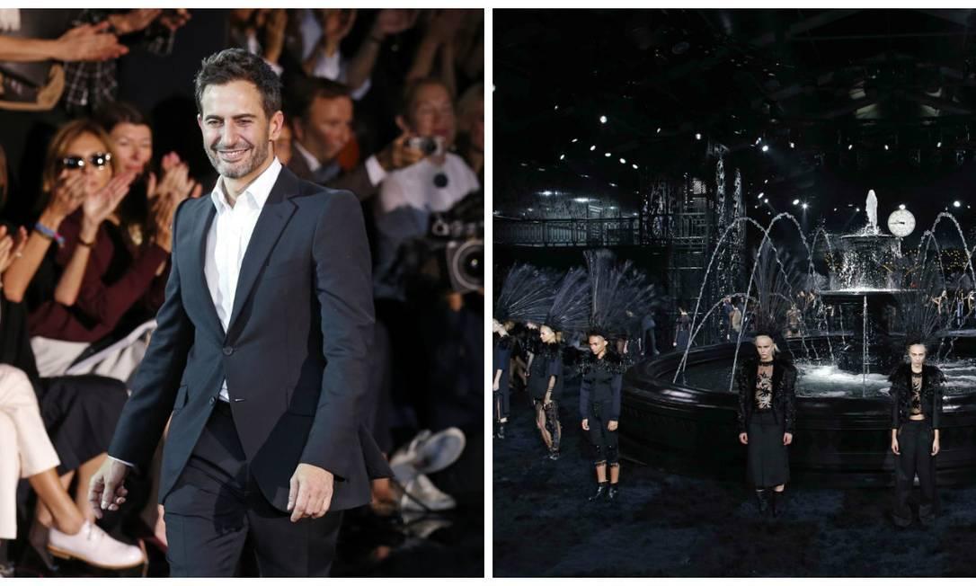 Foi um grand finale: depois de muita especulação, o estilista Marc Jacobs deixou a Louis Vuitton em outubro deste ano, após passar 16 anos no controle criativo da grife. O anúncio foi feito durante o desfile da maison na semana de moda de Paris. E, para o show de despedida, o designer fez uma coleção impactante Montagem sobre fotos AFP