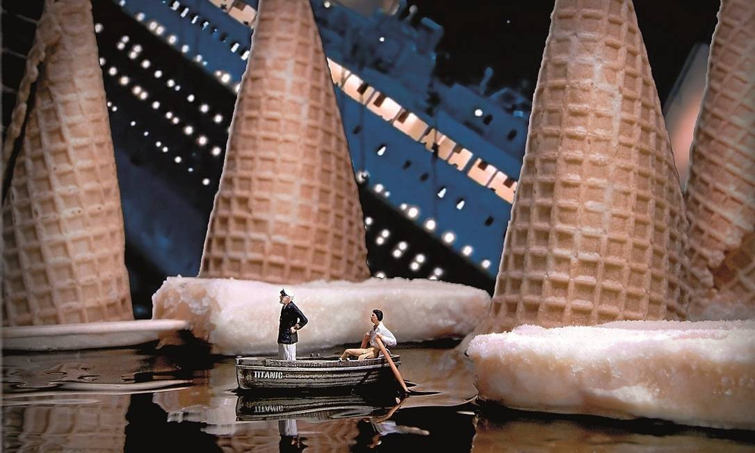 """Cena de """"Titanic"""" com casquinhas de sorvete Foto: Terceiro / Reprodução"""