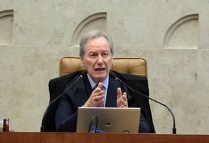 Presidente do STF, ministro Ricardo Lewandowski Foto: Givaldo Barbosa / Agência O Globo