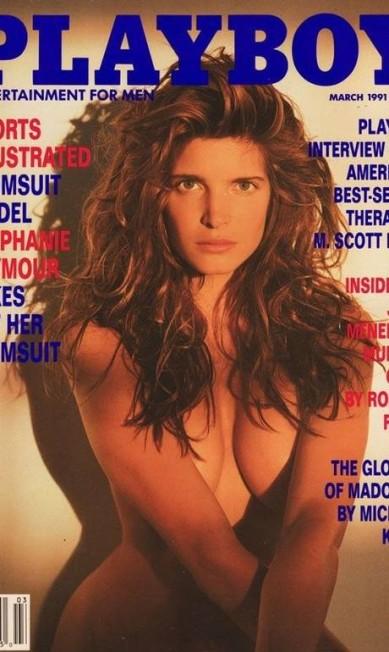 Stephanie Seymour, aos 23 anos, em março de 1991, mostrou suas curvas Reprodução / Playboy