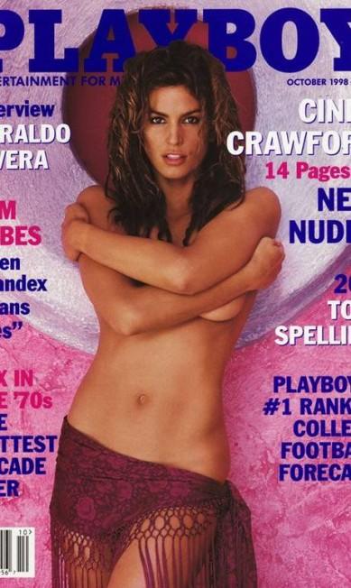 Uma década depois, com 32 anos, Cindy aceitou fazer outro ensaio para a publicação Reprodução / Playboy