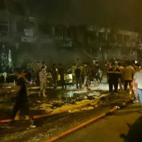 Explosões em bagdá deixaram mais de uma dúzia de feridos Foto: Reprodução