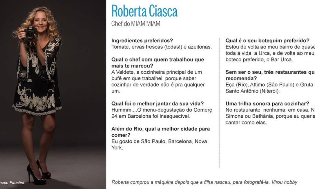 Chef do Miam Miam, Roberta Ciasca, ama fotografia Editoria de Arte