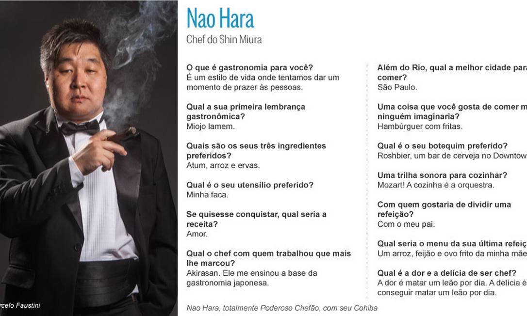 Charutos cubanos: fascínio de Nao Hara, chef do Shin Miura Coordenação: Lou Bittencourt. Produção de moda: Alexandre Schnabl. Beleza: Rita Vasques. Agradecimentos: espumantes Cattacini / Editoria de Arte