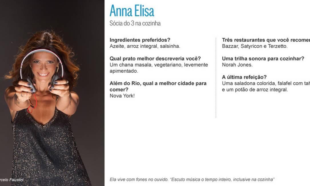 Anna Elisa, do 3 na cozinha: música o tempo todo Editoria de Arte