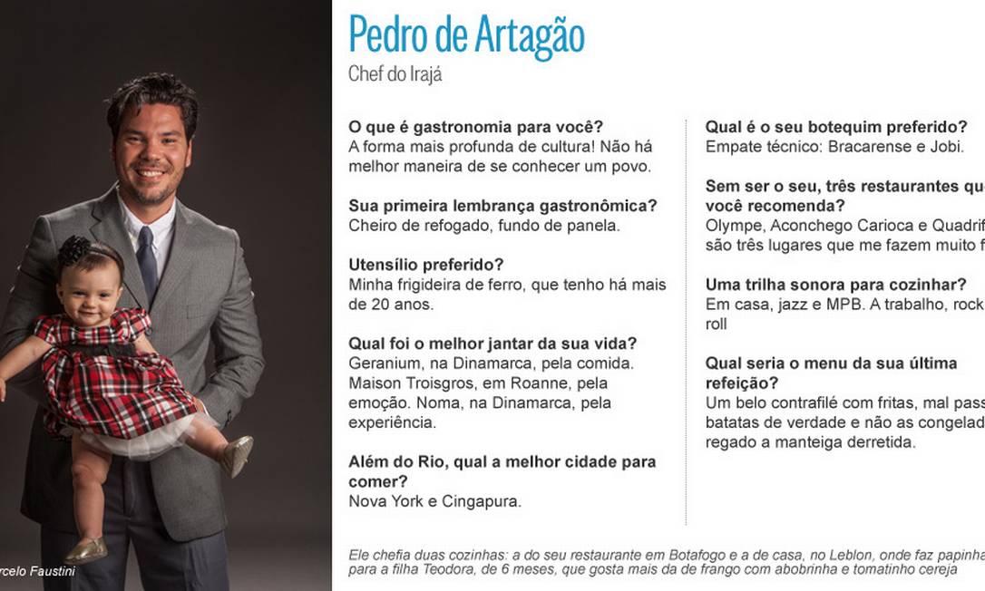 Pedro Artagão e a paixão recente: Teodora, de 6 meses Editoria de Arte