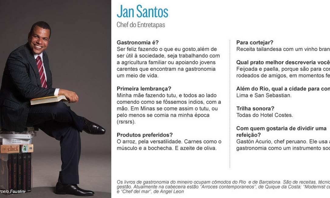 Jan Santos, do Entretapas, não larga seus livros Editoria de Arte
