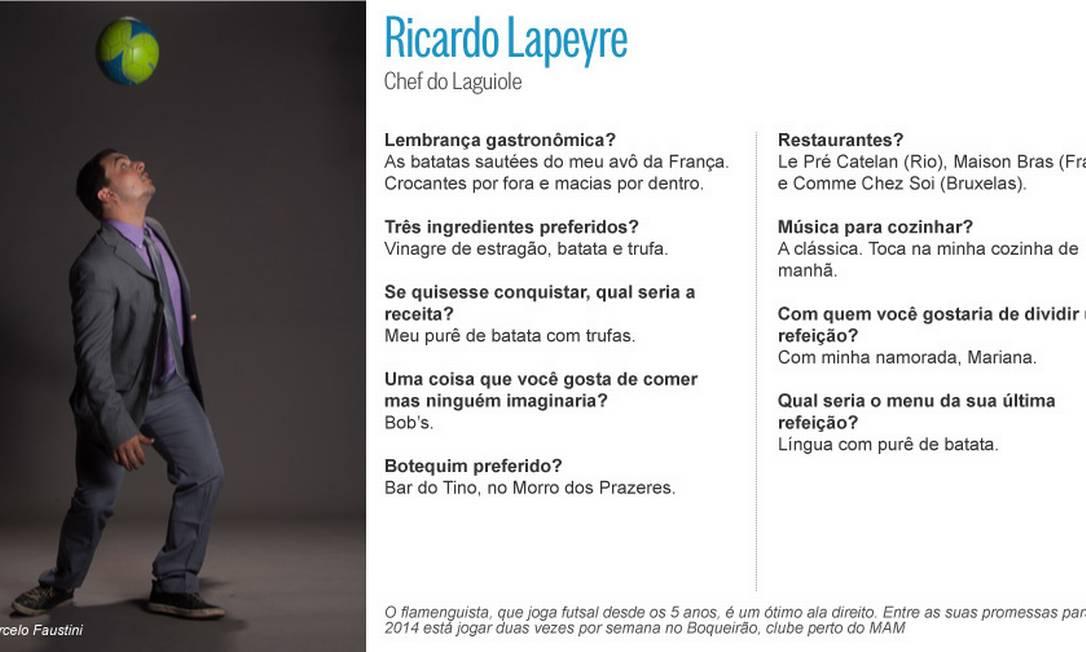 Ricardo Lapeyre: futebol no coração Editoria de Arte