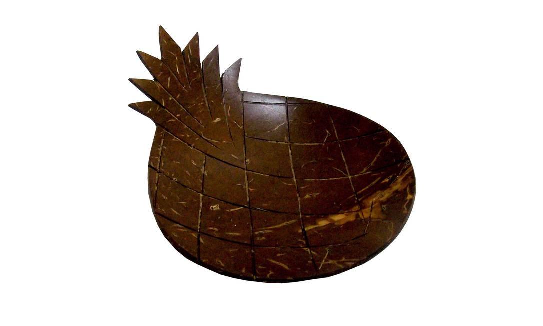 Bowl de madeira, Area Objetos (R$18) Terceiro / Reprodução