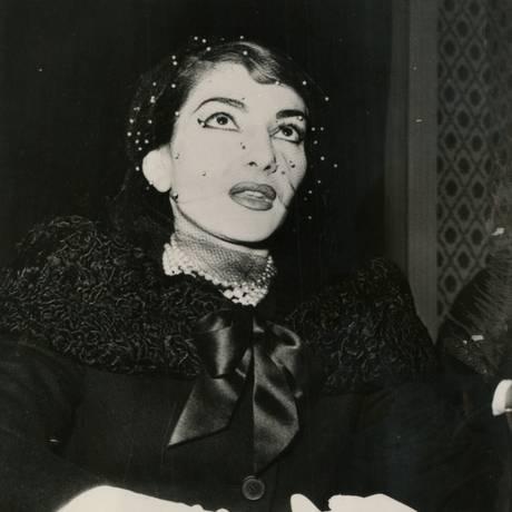 A cantora na noite de abertura da temporada lírica da Ópera de Roma, em 1958: elegância sóbria Foto: Terceiro / Reprodução