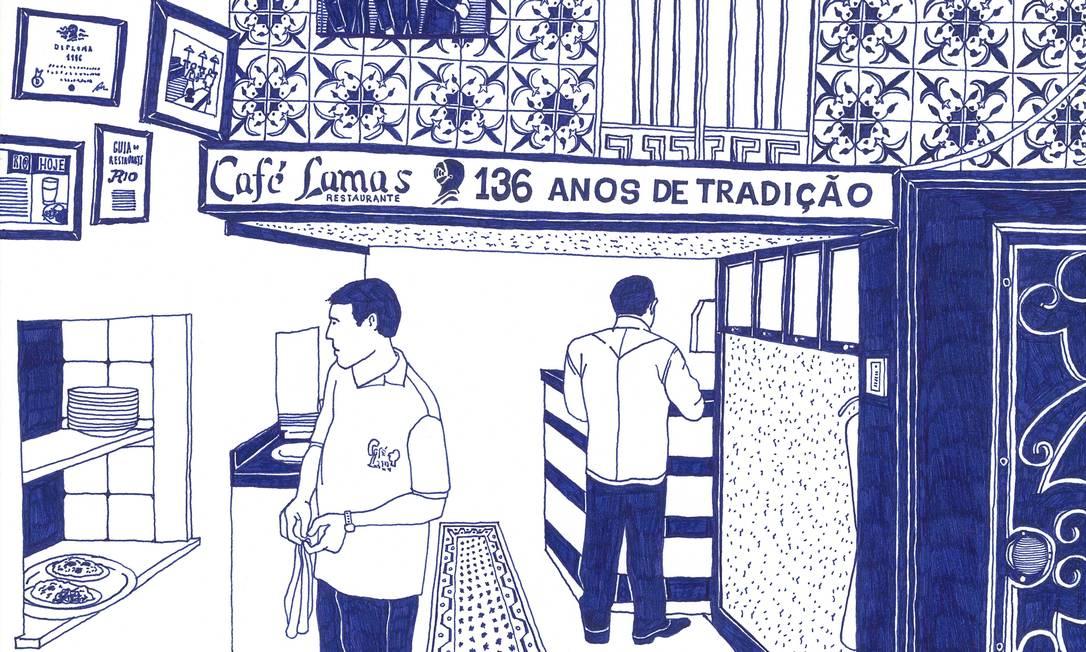 O café Lamas, no Flamengo, ganhou registro no livro de Paulo Mariotti Terceiro / Divulgação