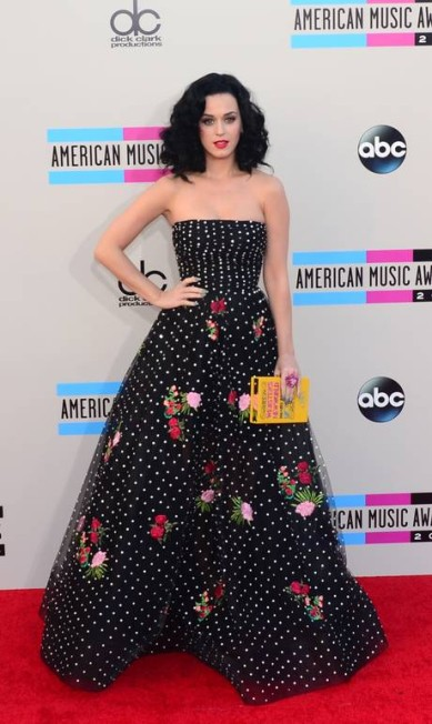 Katy Perry, de Oscar de la Renta FREDERIC J BROWN / AFP