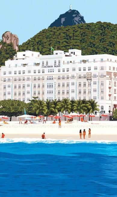 O Rio é tão importante para Mariotti que seus desenhos para a revista de design Ideat Terceiro / Reprodução