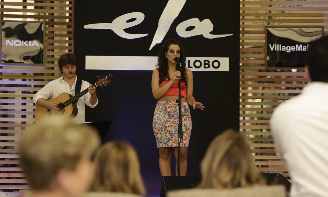 A cantora Bianca Chami animou ainda mais a noite com seu pocket show Leo Martins / Agência O Globo