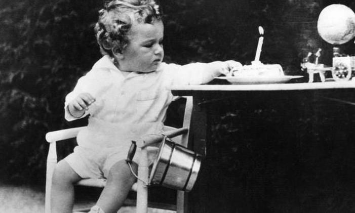O filho de Charles Lindbergh, sequestrado e assassinado Foto: AFP