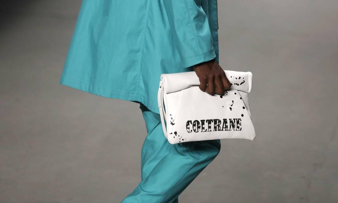 No detalhe, a bolsa homenageia um dos grandes nomes do jazz Pilar Olivares / REUTERS