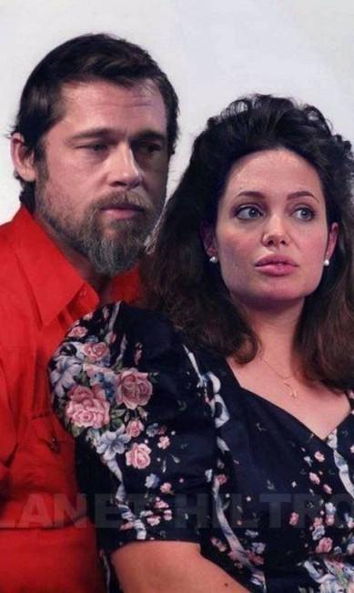 """Brad Pitt e Angelina Jolie, um dos casais mais invejados de Hollywood, em versão """"comum"""" Celebrity Make Under"""