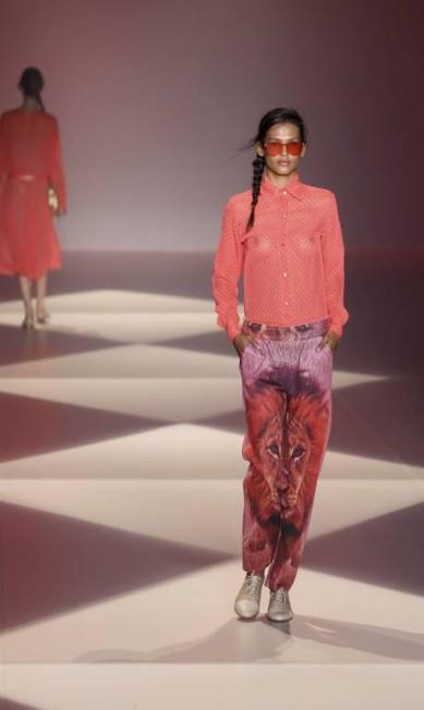 A estilista Alessandra Migani carregou nas cores pink e pistache e criou uma savana bem pop Mônica Imbuzeiro / Agência O Globo