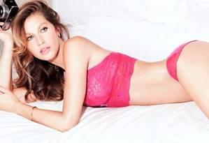 Gisele em nova campanha de lingerie Foto: Reprodução