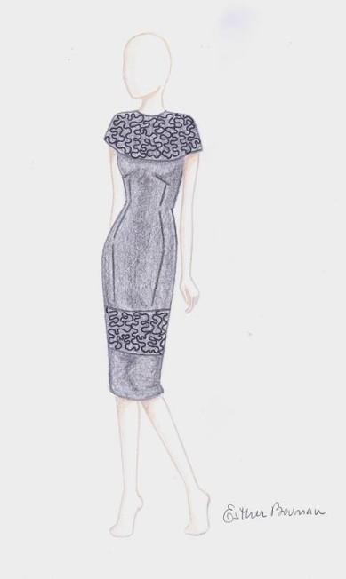 A Acquastudio se inspirou nos anos 1940, na silhueta do pós-guerra e no Cinema Noir. Os vestidos e saias vêm no comprimento midí. As formas são secas e alongadas. Entre as cores: rosas claros, vermelho, cinza mescla, grafite e preto Divulgação