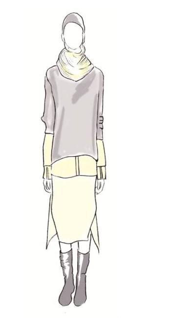 """A UMA buscou trabalhar a relação roupa/corpo de forma a ser funcional e a valorizar o movimento. Alguns tricôs com furos e uma estampa de tela esgarçada remetem à ideia daquelas peças mais """"detonadas"""" ou que parecem emprestadas (pois são maiores) Divulgação"""