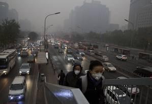 Pequim: queda no consumo de carvão é a principal razão para as recentes melhoras na qualidade do ar Foto: Ng Han Guan / AP