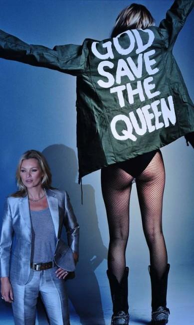 """""""Kate Moss for i-D"""", de Craig McDean, também está à venda CARL COURT / AFP"""