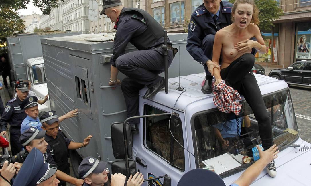 Ato do grupo Femen GLEB GARANICH / REUTERS