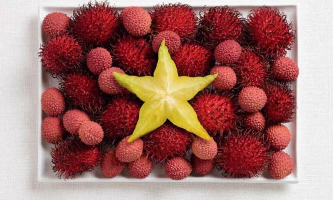 A do Vietnã também levou carambola. Lichia e rambutã (fruta típica da Malásia) completam o quadro Divulgação / WHYBIN\TBWA