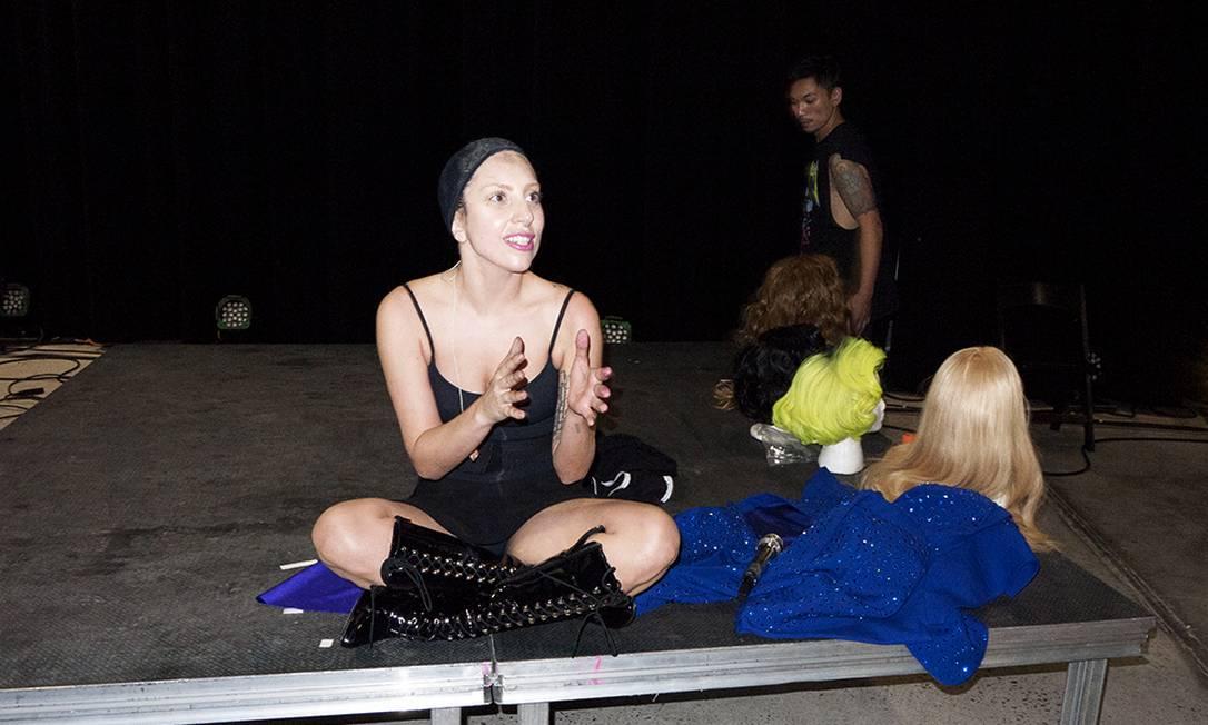 Gaga nos bastidores do evento Reprodução/ Tumblr