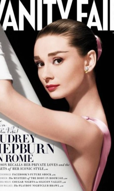 """Mesmo morta, a atriz Audrey Hepburn ainda desperta o interesse do leitor. O número de maio da """"Vanity Fair"""" estrelado pela diva vendeu 308.000 cópias, quase cem mil a mais que Taylor Swift, em abril, que vendeu pouco mais de 211 mil exemplares Reprodução Vanity Fair América"""