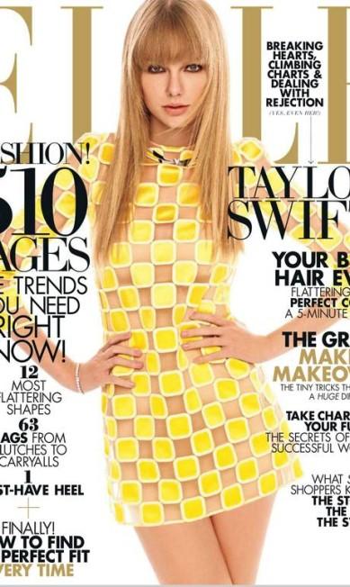 """Março também foi um bom mês para a """"Elle"""". Com Taylor Swift no posto de cover girl, a revista vendeu 215.949 cópias, 66 mil a mais do que a edição de janeiro estrelada por Jessica Biel, dona do pior resultado do semestre Reprodução Elle América"""