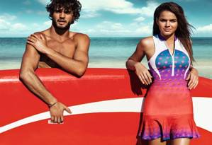Bruna e Marlon: estrelas da moda Foto: Divulgação