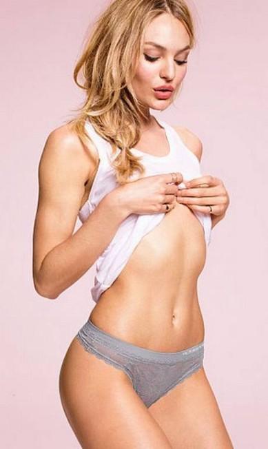 Fã da culinária brasileira, a modelo já revelou que gosta de comer arroz, feijão, muita carne e salada Divulgação