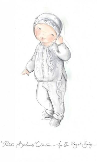 Bebê real versão Dior Reprodução / WWD