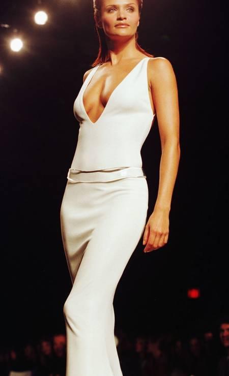 Antes de morrer, Gianni Versace chegou a declarar que a top dinamarquesa Helena Christensen tinha o corpo mais bonito do mundo Foto: Jeff Christensen / REUTERS