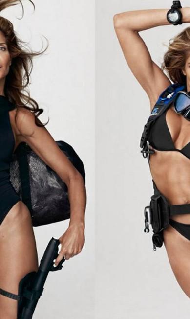 Prestes a completar 45 anos, Stephanie ainda é dona de um dos corpos mais bonitos do mundo da moda Reprodução V Magazine