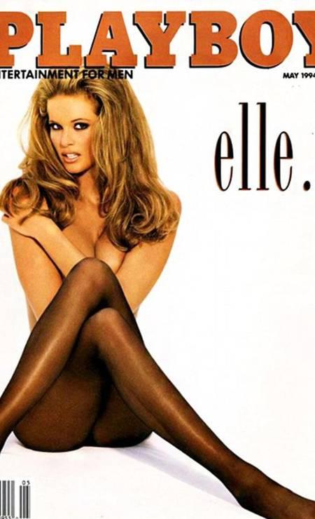"""Em 1994, a modelo australiana conhecida como o """"The Body"""" (""""O Corpo""""), Elle Macpherson, posou nua para provar que o título lhe cabia perfeitamente bem Foto: Reprodução / Playboy"""