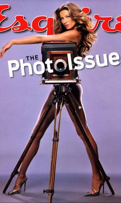 """Para a edição de outubro de 2004 da """"Esquire"""" americana, a modelo exibiu sua silhueta enxuta ReproduçãO/ Esquire"""