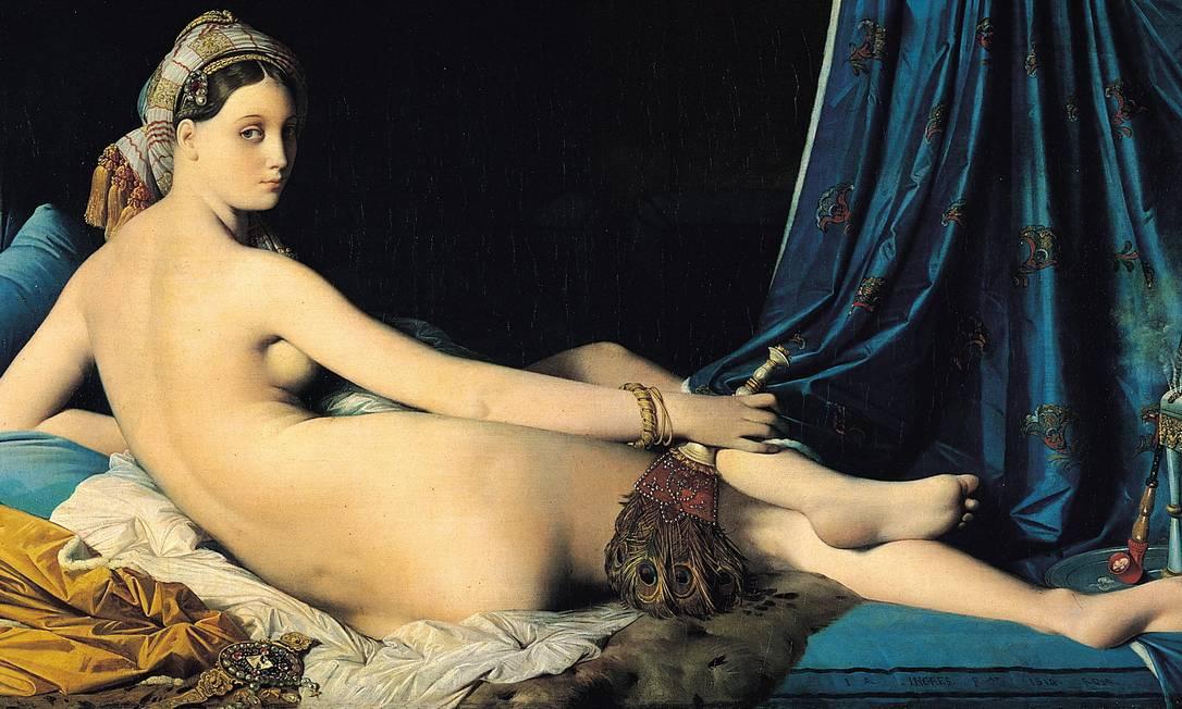 """""""A grande odalisca"""", do francês Ingres (1780-1867), é um dos quadros no roteiro das """"mais belas bundas"""" expostas no Museu do Louvre, em Paris Terceiro / Reprodução"""