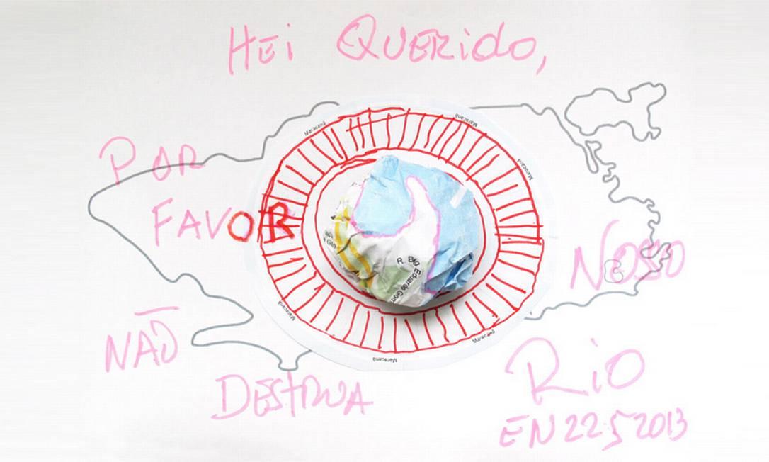 Ernesto Neto fez um pedido em forma de protesto. Destacando o Maracanã, ele quer que as transformações na cidade deixem um legado Ilustração Ernesto Neto