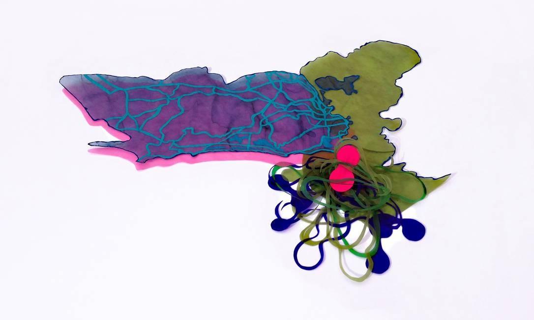 Suzana Queiroga: fios emaranhados em seu mapa afetivo da cidade Foto: Terceiro / Ilustração Suzana Queiroga