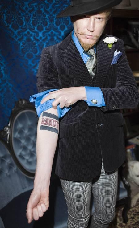 Doran Wittelsbach exibe sua tatuagem em São Francisco, 2009 Foto: Rose Callahan Photography / Divulgação