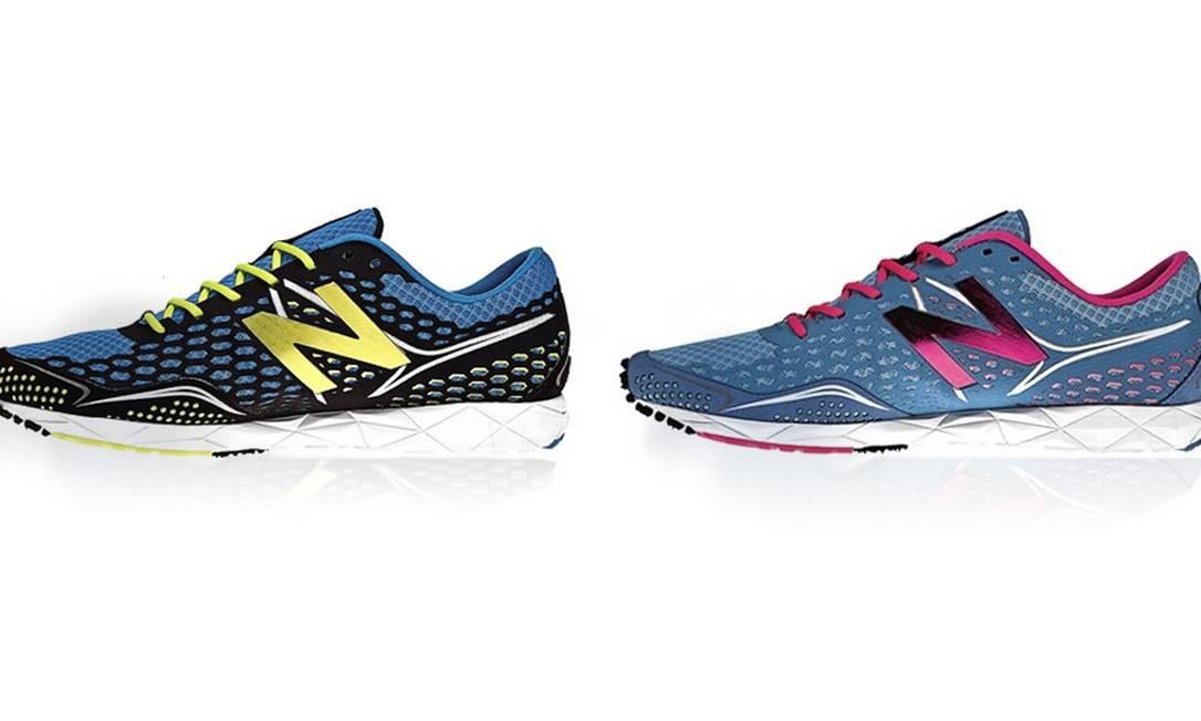 Os amantes da corrida podem treinar combinadinhos com o RC1600 running da New Balance (www.newbalance.com.br). Por R$ 499,90 cada Divulgação