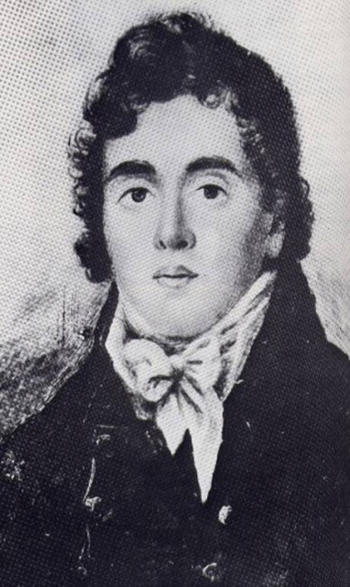 Beau Brummell em 1815. Figura proeminente durante a Regência Britânica, ele é identificado como o primeiro a instituir o estilo de vida dos dândis Reprodução