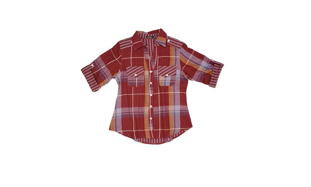 Camisa xadrez feminina - R$179 na Missiza (Av. Nossa Senhora de Copacabana, 836, loja B. Tel.: 21 2257-2839) Divulgação