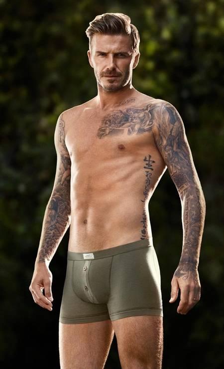 Durante o comercial da sua marca de underwear, em parceria com a H&M, em fevereiro deste ano Foto: Divulgação
